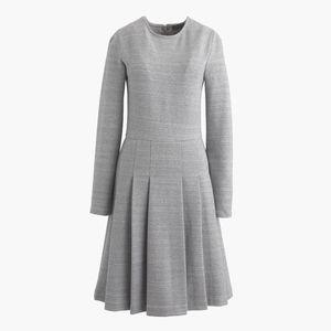J. Crew heathered ponte grey dress pleated 2